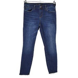 STS Blue Emma Crop Raw Hem High Waist Jeans  (C13)